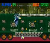 Edo no Kiba SNES The first boss. Destroy the turrets on its trailer then take out the big one on the cabin.