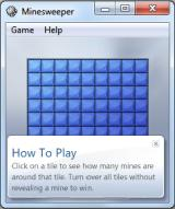 Microsoft Windows 7 (included games) Windows Starting a Minesweeper game