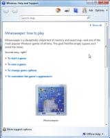 Microsoft Windows 7 (included games) Windows Instructions for Minesweeper