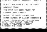 Oil Barons Apple II Oh uh, a lawsuit!!