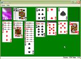 Microsoft Windows XP (included games) Windows A Solitaire game in progress