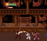 Cutthroat Island SNES Thankfully Hollywood bar fighting rules are in effect, and a bottle to the face will knock a pirate straight across the screen.