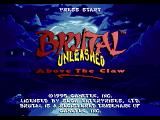 Brutal: Above the Claw SEGA 32X Second title screen