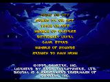 Brutal: Above the Claw SEGA 32X Options screen