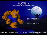 Brutal: Above the Claw SEGA 32X Character selection