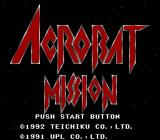 Acrobat Mission SNES Title Screen
