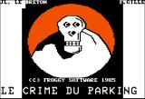 Le crime du parking Apple II First title screen