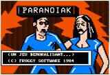 Paranoiak Apple II Title screen