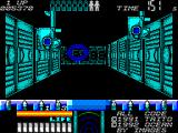 Space Gun ZX Spectrum These gun turrets appear from the ceiling and need destroying quickly.