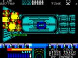 Space Gun ZX Spectrum Using the smart bomb results in a fiery explosion.