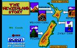 The New Zealand Story Amiga Map of New Zealand
