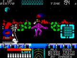 Space Gun ZX Spectrum Level 3 is set out on the planets surface which is a welcome break from the stagnant corridors.