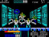 Space Gun ZX Spectrum Behind the door is what at first you think lots of survivors but they turn into the slasher monsters to add even more suspense.