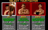 Pit-Fighter Atari ST 1P Selection Screen