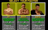 Pit-Fighter Atari ST 2P Selection Screen