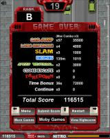 Freeway Fury Browser Game over screen