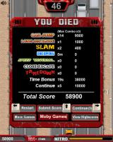 Freeway Fury Browser You died screen