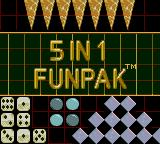 5 in One Fun Pak Game Gear Title screen
