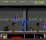 Kikou Keisatsu Metal Jack SNES The sewer level is crawling with leaping street punks.