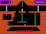 Panama Joe ZX Spectrum Climbing down the rope to start off the game.