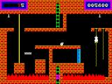Panama Joe ZX Spectrum Use the rope to climb up to the above platform.