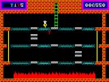 Panama Joe ZX Spectrum The blue platforms are conveyor belts so combine that with the disappearing white ones and you have a very tricky challenge when trying to get the key.