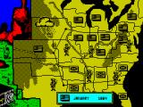 North & South ZX Spectrum The overview map of the US which is used for planning your attacks.
