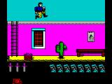 North & South ZX Spectrum Using the upper part of a Fort level is quicker but you need to carefully jump over gaps