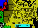 North & South ZX Spectrum The Confederates are clearly winning the by the amount of flags on the map.