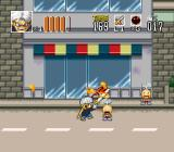 Go Go Ackman 2 SNES Ackman wastes no time in cleaning up the streets.