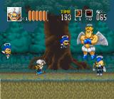 Go Go Ackman 2 SNES Metal Angel's lead singer taunts you while summoning groupies.