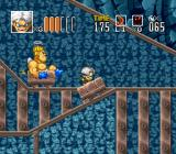 Go Go Ackman 2 SNES No one will be seated for the thrilling mine cart level. Well... except for him.