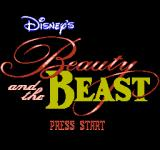 Disney's Beauty and the Beast NES Title screen