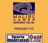 Sports Illustrated Golf Classic Game Boy Title screen