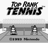 Top Rank Tennis Game Boy Title screen