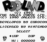 Rodland Game Boy Title screen