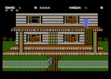 Ghost Chaser Atari 8-bit You have to climb onto the porch roof to get in.