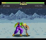 Dragon Ball Z: Super Butōden 2 SNES Piccolo getting a kick to the head