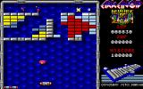 Arkanoid: Revenge of DOH Amiga A game in progress on round one