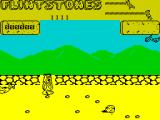 Yabba Dabba Doo! ZX Spectrum In the first part of the game Fred must pick up the little rocks and drop them into a rubbish pit, clearing the ground so that he can build a house with the big rocks