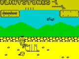 Yabba Dabba Doo! ZX Spectrum Part of a house already exists to be extended into a full dwelling. Birds will drop rocks on Fred, turtles and other animals will attack him