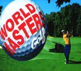 World Masters Golf SNES Game title shown in intro
