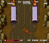 Gekitotsu Dangan Jidōsha Kessen: Battle Mobile SNES At first the first Stage's boss will release motorcyclists on you.