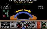 Hard Drivin' II Atari ST Choose a transmission type
