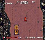 Gekitotsu Dangan Jidōsha Kessen: Battle Mobile SNES Your adversaries have converted all sorts of construction vehicles into weapons.