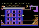 Popeye Atari 8-bit The second level