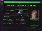 Cybermercs: The Soldiers of the 22nd Century Windows Creating a character and choosing starting stats