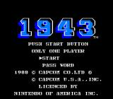 1943: The Battle of Midway NES Title