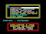 Spellbound ZX Spectrum Options Screen.