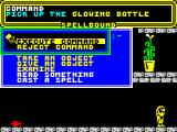 Spellbound ZX Spectrum Use the interface to interact with the world of Spellbound.